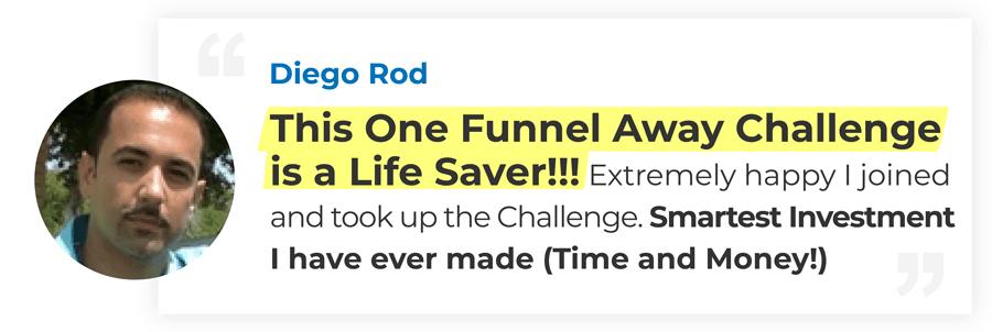 One Funnel Away Challenge Testimonial